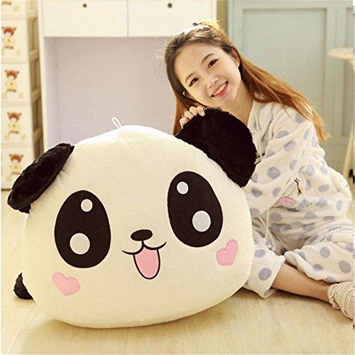 1Pc kawaii Plüsch Puppe Spielzeug Tier Panda Kissen gefüllt Nackenrolle Geschenk 45cm/45cm (Gefüllte Nackenrolle Kissen)