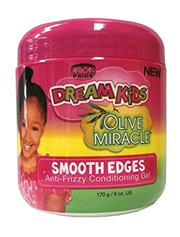 African Pride Dream Kids Olive Smooth Edges Anti Frizzy Conditioning Gel 170g (Anti Frizz Gel)