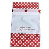 Hacoly 50 Stück Geschenkbeutel mit Kordelzug Kunststoff Süßigkeitensack Geschenk Paket...