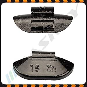 15g X 100 Schwarz Schlaggewichte Stahlfelgen Auswuchtgewichte Wuchtgewichte Auto
