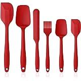 Vicloon Spatole in Silicone, Set 6 PCS Spatola da Cucina Utensili, Resistente al Calore Antiaderenti Utensili da Cucina in Si