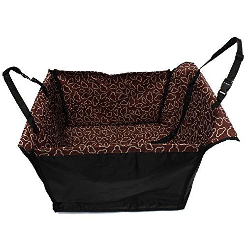 Sitzbezug Hängematte (zulux waschbar Wasserdicht Auto-Sitzbezug für Hunde Tiere/Matte Decke Hängematte Dimension 58,4 x 53,3 x 33 cm(Kaffee))