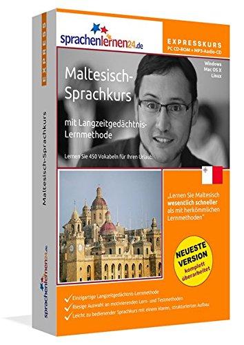 Preisvergleich Produktbild Maltesisch-Expresskurs mit Langzeitgedächtnis-Lernmethode von Sprachenlernen24: Fit für die Reise nach Malta. Inkl. Reiseführer. PC CD-ROM + MP3-Audio-CD für Windows 10,8,7,Vista,XP/Linux/Mac OS X