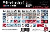 Ableton Live 6-9 Tastatur Aufkleber Sticker mit Shortcuts (Befehle / Kürzel)...