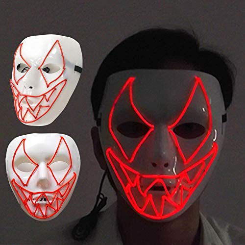 (Faschings Masken LED Halloween Maske Maskenball Maske für Karneval, Festival,Cosplay,Halloween,Kostüm by Futurepast)