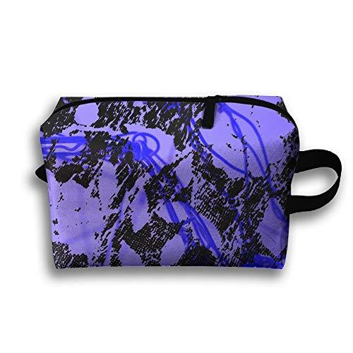 Blue Lightning Travel Cosmetic Bag Make-Up Bags Stationery Holder