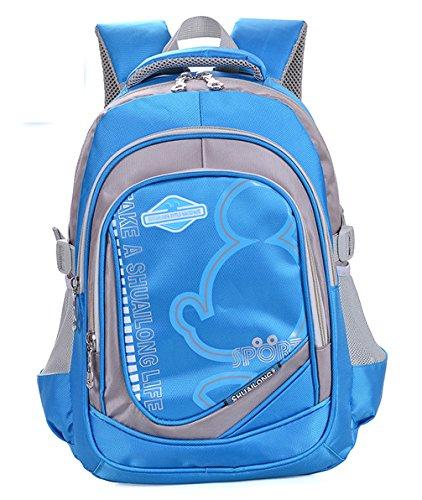 Longzibog Einfache und Modedesign. Nie aus der Mode. Mode Maedchen Rucksack Schulranzen Wasser-Blau