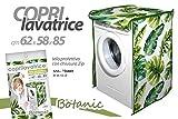 Coprilavatrice copri lavatrice 62*58*85 CM telo con zip decoro botanic ASS-736803