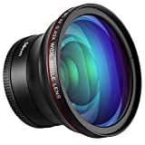 Neewer 58 mm 0, 43 X HD Objectif Grand Angle avec Macro Close-up Portion Objectif pour Canon EOS Rebel 700d 650d 600d 550d 500d 450d 400d 350d 100d (T5i T4i T3i T2i T1i XSi)