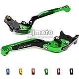 BJ Global extensible y plegable 1par motocicleta Ajustable freno Palanca de embrague para KAWASAKI Z800E version 201320142015