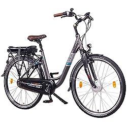 "NCM Munich E-Bike City Rad, 250W, 36V 13Ah 468Wh Akku, 26""/28"" Zoll (Anthrazit N8C 28"")"