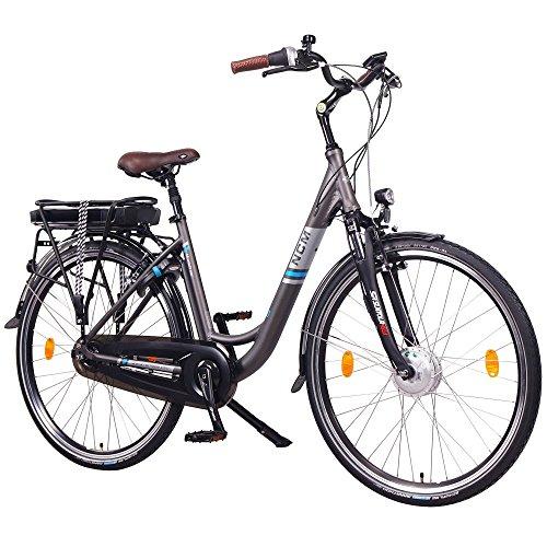 NCM Munich N8C 36V, 28″ Zoll Elektrofahrrad Herren & Damen Unisex Pedelec, E-Bike, City Elektrofahrrad mit Rücktrittbremse, 250W Frontmotor, 13Ah 468Wh Lithium-Ionen-Akku
