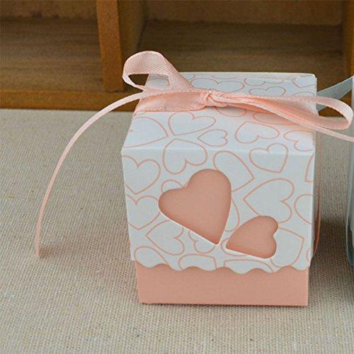 Kicode Boîte cadeau DIY Coeur d'amour Avec une fête d'anniversaire de mariage de ruban 12PCS 1,95 \