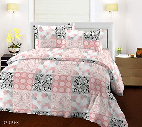 Bombay Dyeing Epigram 144TC 100% Cotton One Double Size Bedsheet with 2 Pillow Covers