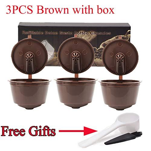Timegoing i cafilas Neue 3. Generation Kaffeekapseln Filterbecher Nachfüllbare Wiederverwendbare Kaffeekanne Teekörbe Kapseln Pods für Dolce Gusto