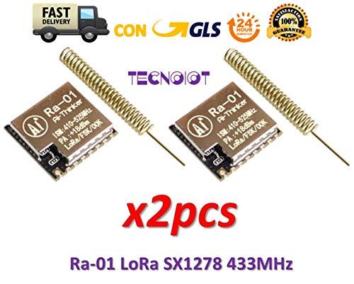 2pcs Ra-01 LoRa SX1278 433MHz Ra01 Wireless Spread Spectrum Transmission Module - Serie-modem Board