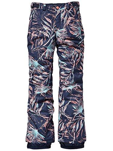O'Neill Mädchen Kinder Snowboard Hose Charm Slim Pants Girls, Blue AOP w/pink-Purple 152