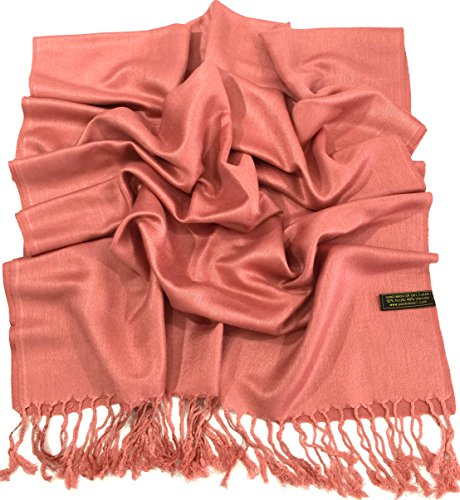cj-apparel-coral-pink-solid-colour-design-shawl-pashmina-scarf-wrap-seconds-new