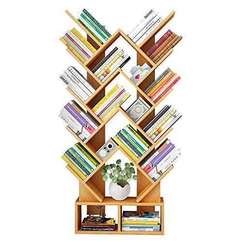 Ofgcfbvxd Regale für Bücherregale Kreatives herzförmiges Bücherregal für Arbeitszimmer - Walnuss, Weiß Heimbüromöbel (Farbe : Walnut, Größe : 60 * 20 * 146cm)