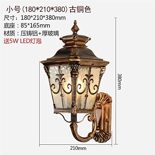 Industrial Vintage Wandleuchte Wandlampen Schlafzimmer Außenbeleuchtung gang Terrasse/Balkon wasserdichte outdoor Wandleuchte led Wohnzimmer,Bronze - Antique Bronze Outdoor-wandleuchte