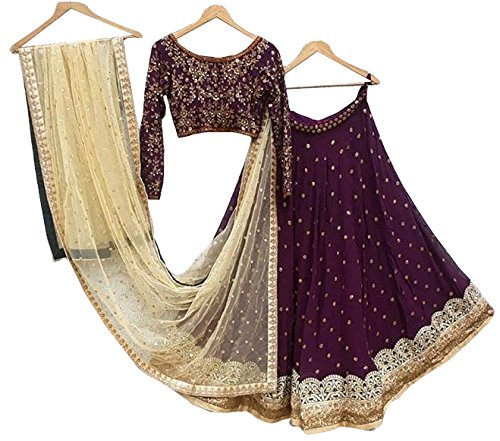 Brahmani Enterprise maroon Wall Bagalori Lehengs Choli with Duppta Net