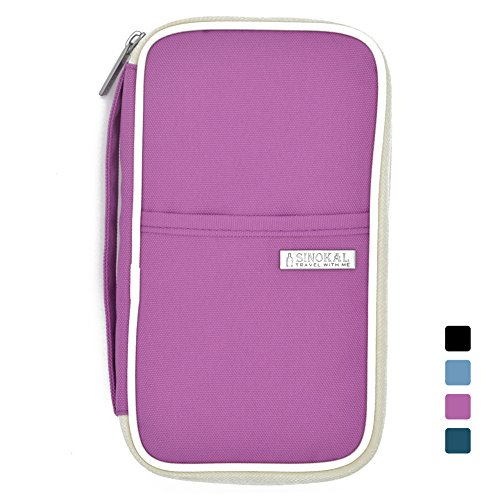 sinokal-passport-wallet-organizer-voyage-sac-etanche-purple