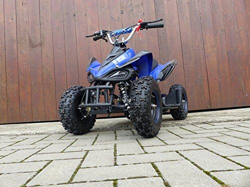 RV-Racing Quad Miniquad Kinder ATV 6 Zoll 49cc 2 Takt Pocketquad Kinderquad Blau