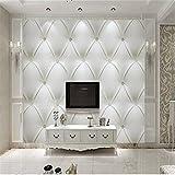 Benutzerdefinierte Fototapete 3D Weiß Europa Simulation Soft Bag Perle Bettwäsche Zimmer Tv Hintergrund 3D Non-Woven Wandtapete