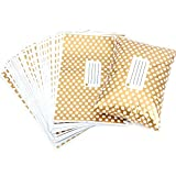 """50 Pcs 14"""" x 19"""" 355MM X 485MM Golden Polka Dot Plastic Strong Self Seal Mailing Postal Postage Bags"""