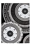 Lalee 347229499 Klassischer Teppich Muster Klassik Kreise Glitzer Größe 80 x 300 cm, schwarz