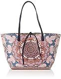 Desigual - Bols_afro Capri, Shoppers y bolsos de hombro Mujer, Rosa (Fuchsia Rose), 28x13x30 cm (B x H T)