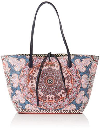Desigual   Bols_afro Capri, Shoppers y bolsos de hombro Mujer, Rosa (Fuchsia Rose), 28x13x30 cm (B x H T)