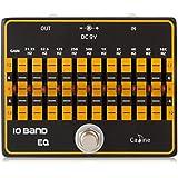 egalisateur - Caline CP-24 10-Bande EQ egalisateur True Bypass Effet audio de Guitare en alliage d'aluminium