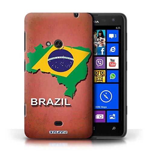 Kobalt® Imprimé Etui / Coque pour Nokia Lumia 625 / Afrique du Sud/Afrique conception / Série Drapeau Pays Brésil