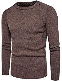 Zerototens Jumper Sweater for Men Autumn Winter Long Sleeve Solid Crewneck  Knitted Sweater Pullover Tops Blouse b515b6ad51868