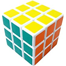 SORA H® Shengshou 3x3x3 Plastico Rompecabezas Track cubo magico divertido esmerilado Educacion Cubo Magico Puzzle (Blanco)