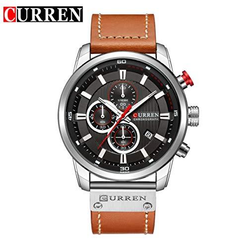 4a8336849d8b WOSOSYEYO Curren 8291 Hombres Correa de Cuero Reloj de la Correa Reloj  mecánico Relogio Masculino