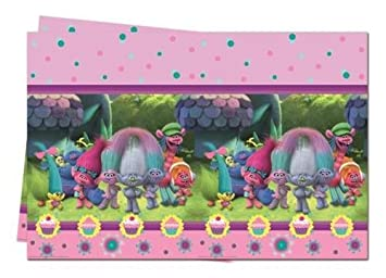 Qualatex 49797 DreamWorks Trolls Plastic Party Table Cover