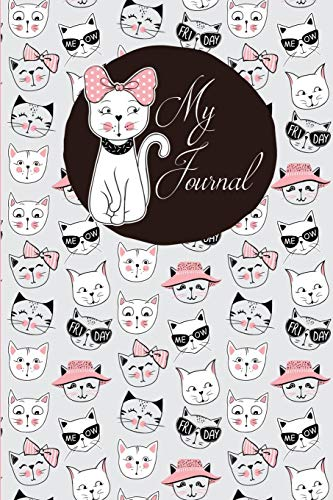 'Cool Cats' Journal: 6 x 9 inch 150 page lined cream page Journal Notebook -