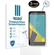 Vodafone Smart Ultra 6 Protector cristal templado - RE3O® 3 x Protector de pantalla cristal templado vidrio templado para Vodafone Smart Ultra 6 5,5'' pulgadas, Borde redondo elegante 2,5D, Fácil de instalar y sin burbujas de aire, Dureza 9H Anti-choque y Resistencia al desgaste a prueba de rasguños, Alta transparencia, Efecto anti-huella digital perfecto