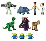 SET 10 PERSONAGGI SNODABILI TOY STORY WOODY BUZZ LIGHTYEAR REX JESSIE ZURG...