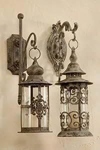edle wandlaterne kreuz wandkerzenhalter laterne antik h42cm. Black Bedroom Furniture Sets. Home Design Ideas