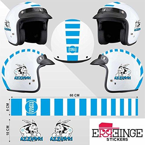 erreinge Kit Sticker Adesivi AUTOCOLLANT AUFKLEBER PEGATINAS - Napoli Ciuccio - Casco Scooter Moto Bike Motocicletta Helmet Helm Casque Motorrad Biker Decal Waterproof