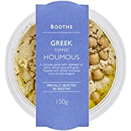 Booths Greek Topped Houmous, 150 g