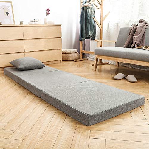 Trifold Falten Futon Schlafen Tatami Boden Matratze, Boden Tri-fold-Bett Pad Schaumstoff mit hoher dichte Matt futon Für Office Auto Bay-Fenster-B 70x200cm(28x79inch)