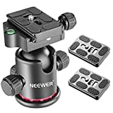 Neewer Photography Metal 360 Degree Rotating Panoramic Ball Head with Universal Quick Shoe