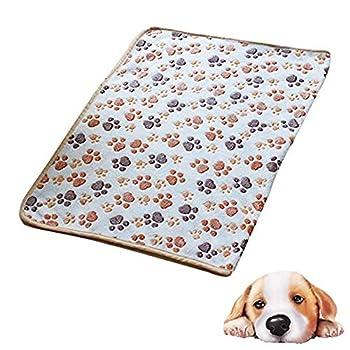 Westeng 1pièce Couverture douce et chaude en Velours pour Petit chien ou chat Pour animal domestique Coussin Tapis Motif pattes 60 x 40 cm