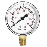 "60mm 4BAR Presión 60 psi Gauge Agua 1/4 ""BSPT Side Manómetro de entrada"