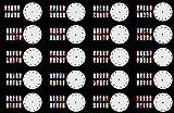 ABEST Verkauf Wiederverwendbarer Airbrush Nail Art Schablone 260 DESIGNS - 20 Vorlage-Blätter-Kit-Set 1