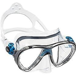 Cressi - Masque de plongée Sous Marine pour Adulte - Big Eyes Evolution - Bleu (Transparent/Bleu) - Taille Unique